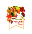 autumn lovely fall time poster