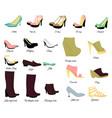 big shoes set vector image vector image