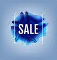 blue flow poster with sale banner vector image vector image