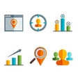 business and finance icons and sign in flat vector image vector image
