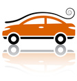 car with air vortex icon vector image vector image