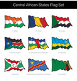central african states waving flag set vector image