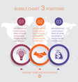 charts infographic step by step 3 positions vector image
