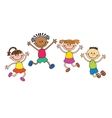 Children isolated look up with interest Kid vector image vector image