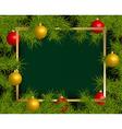 Christmas balls frame vector image vector image