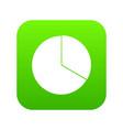 circle chart infographic icon digital green vector image vector image