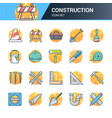 construction and tools icons vector image