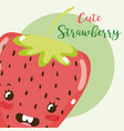 cute fruit kawaii cartoon vector image