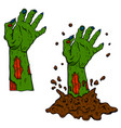 dead zombie hand out ground design element vector image