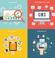 Element of SEO CMS mobile and marketing concept vector image vector image