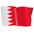 flag of Bahrain vector image