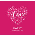 Floral Heart with Love Word - for Valentines Day vector image vector image