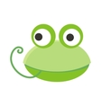 Frog Face in Flat Design vector image