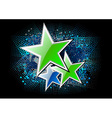 green stars on the black background vector image vector image