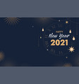 happy new 2021 year - elegant abstract background vector image