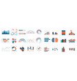 infographics charts business diagrams graphs vector image
