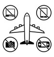 items not allowed to carry in luggage for vector image vector image