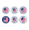 made in usa labels set american product vector image