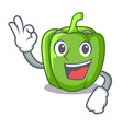 okay green peppers on the table cartoon vector image vector image