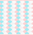pastel color repeated circle pattern vector image vector image