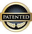 patented icon vector image