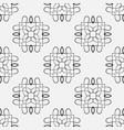 retro seamless pattern vector image vector image