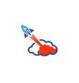 rocket sky logo vector image