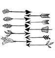 rustic arrows vector image vector image