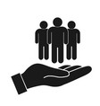safe people in hand vector image vector image