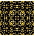 Seamless golden pattern vector image vector image