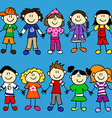 Seamless kid banner-2 rows vector image