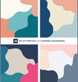 set dynamic fluid shapes background vector image vector image