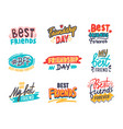 set friends and friendship banners quotes vector image