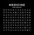 set line icons medicine vector image vector image