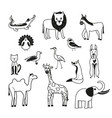 set of animals on a white background vector image vector image
