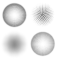set of halftone spheres vector image