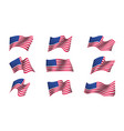 set of us flags vector image