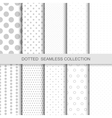 Simple dotted patterns vector image vector image