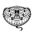snake tattoo as creative tattoo shape vector image vector image