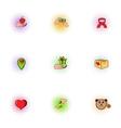 Sponsorship icons set pop-art style vector image vector image