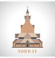 stave church in borgund icon vector image