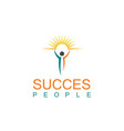 succes people logo vector image