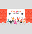 theater actor characters flat people theatrical vector image vector image