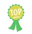 Top quality gold and green ribbon simple flat vector image vector image
