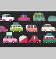 traffic jam scene vector image