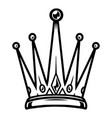 vintage monochrome tattoo royal crown vector image vector image