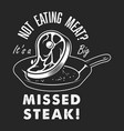 vintage steak cooking logo vector image
