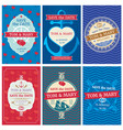 wedding invitation cards with nautical vector image vector image