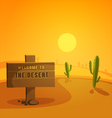 Welcome to the Desert vector image