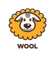 wool sheep icon for knitting handicraft or vector image vector image